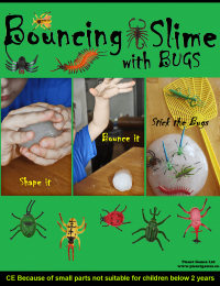 bouncing slime with bugs