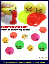 emoji throw up balls