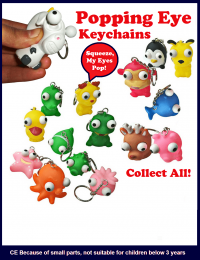 poping eye keychains