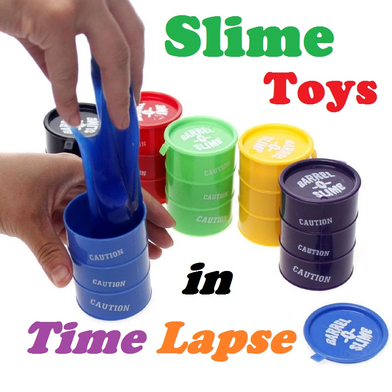 Video – Slime toys in time lapse
