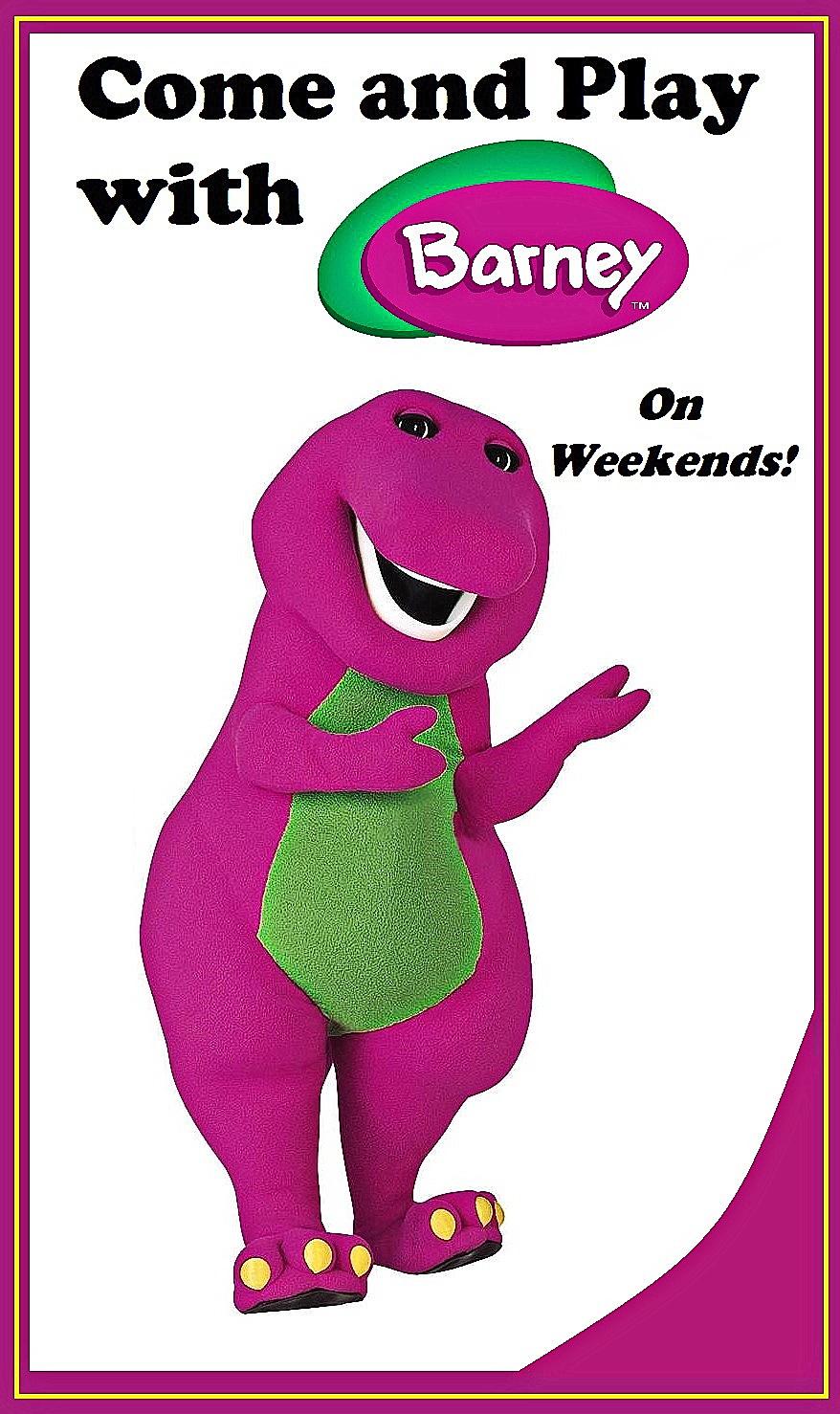 Barney the dinosaur: The mascot of our Dinosaur park