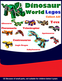Dinosaur world legos