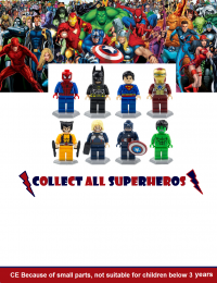 Superhero lego collection