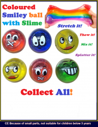 Smiley Slime colour balls
