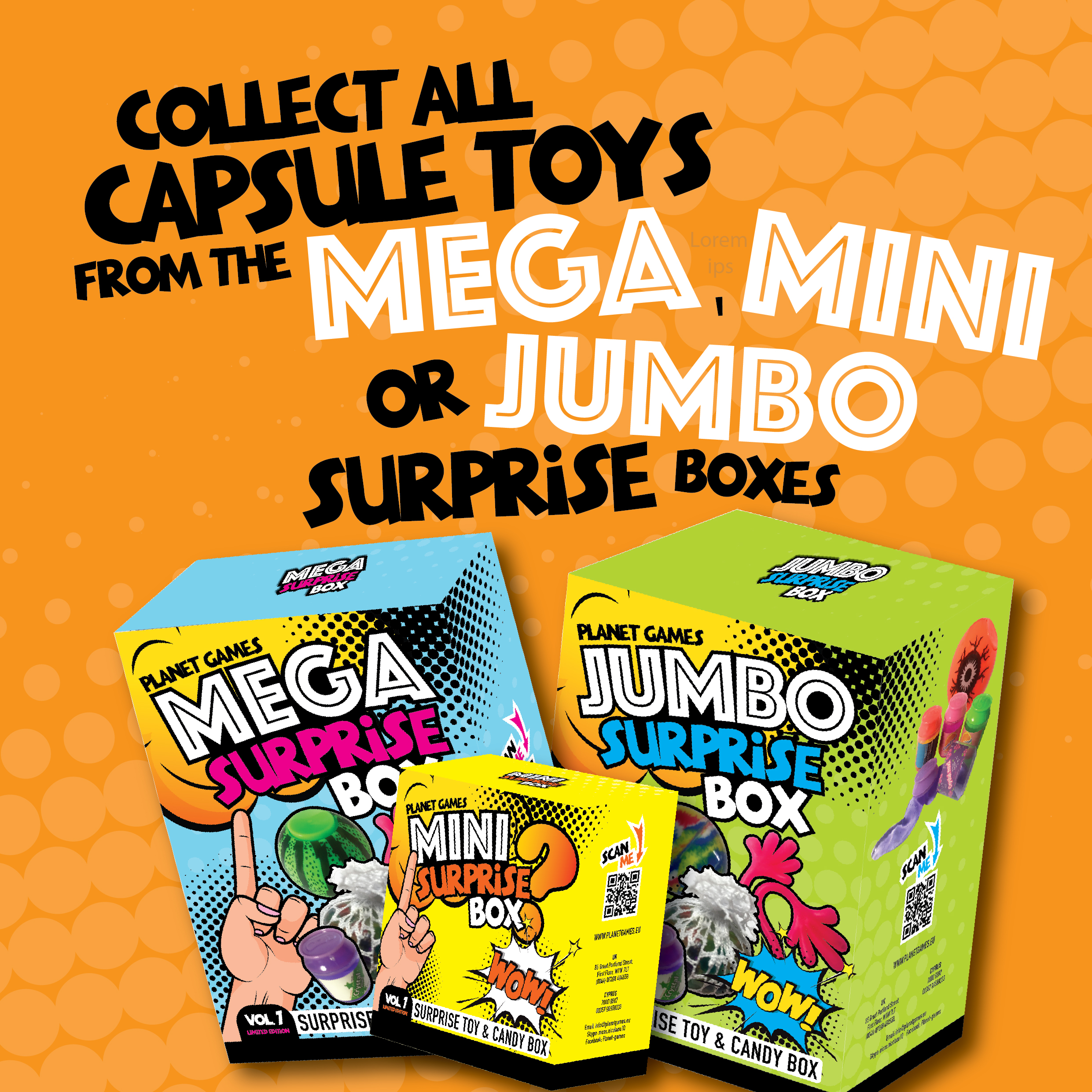 Mega and Jumbo surprise mystery boxes!